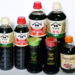 Original Premium Soy Sauce (Red), Premium Less Salt Soy Sauce (Green) and Teriyaki Sauce