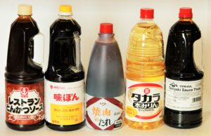 Tonkatsu sauce, Ajipon ponzu sauce, Yakiniku sauce, Mirin seasoning, Thick teriyaki sauce