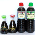Original Premium Soy Sauce (Red) and Less Salt Soy Sauce (Green)
